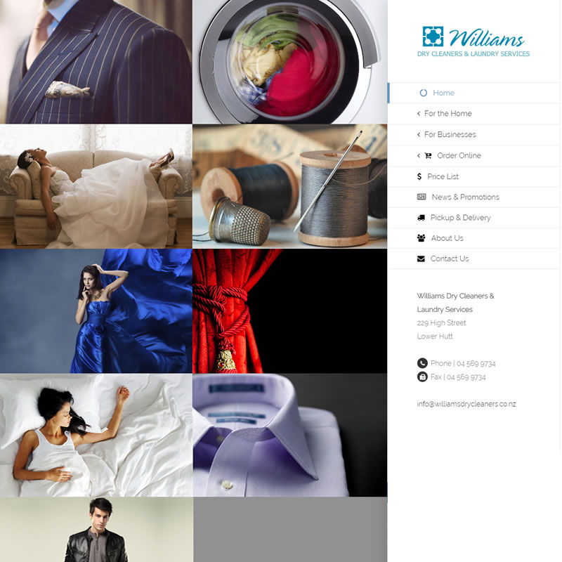 Williams Dry Cleaners Website